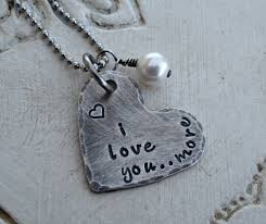 gifts necklace images Rustic i love you more heart necklace at sweet blossom gifts jpg