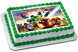 marvel cake toppers lego marvel 2 edible birthday cake or cupcake topper edible