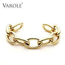 personalized bangle bracelets varole jewelry chain bracelet noeud armband gold color