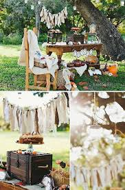 Rustic Backyard Party Ideas Rustic Fall Baby Shower Full Of Ideas For Decorating And Food Via