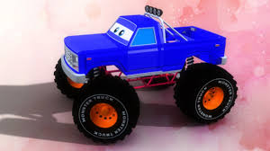bigfoot presents meteor and the mighty monster trucks monster truck formation and uses 3d cartoon videos for kids