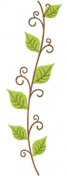 free leafy vine machine embroidery design daily embroidery