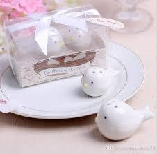 salt and pepper wedding favors white birds ceramic salt shaker pepper shakers set