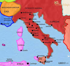 map of italy images map of italy at 500ad timemaps