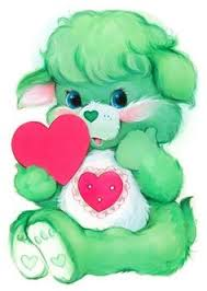 sweet cute baby care bear heart