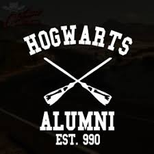 hogwarts alumni sticker hogwarts alumni decal outlaw decals