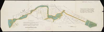 Boston Commons Map by Suggestion For The Improvement Of Muddy River And For Completing A