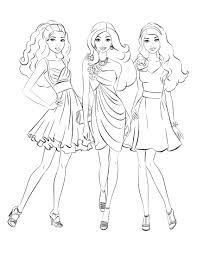 barbie coloring pages kids corpedo