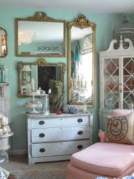 mirror collage living room shabby chic style with french country