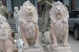 lion statues for sale decorative large outdoor strong marble lion statues for garden