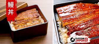 cuisiner des anguilles unagidon unadon un plat à base d anguille sur du riz japonais