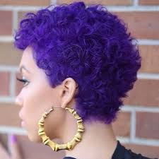 black hairstyles purple this purple curly twa is absolutely gorgeous give me color