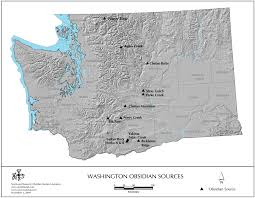 Mt Washington Map by Obsidian Source Maps United States