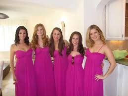 fuschia bridesmaid dress orange and fuschia bridesmaid dresses svapop wedding beautiful