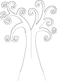 tree outline printable free coloring pages on art coloring pages
