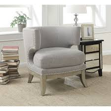 Barrel Accent Chair Coaster Barrel Back Upholstered Accent Chair In Gray 902560
