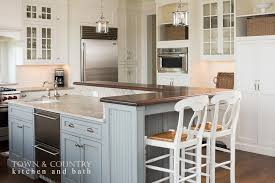 kitchen island with breakfast bar and stools blue beadboard kitchen island with white seat bar stools