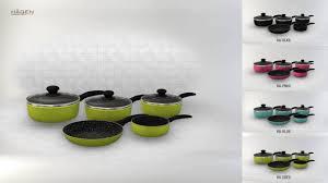 batterie cuisine batterie de cuisine revêtement 8 pieces hagen