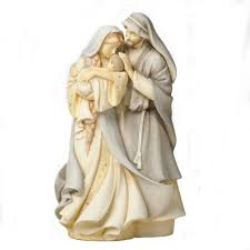 amazon com foundations holy family stone resin figurine 9 u201d home