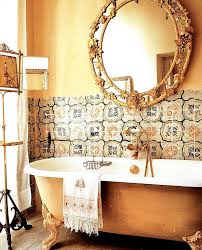 Gold Bathroom Decor by Gilded Bathroom And Tilework Photo Italian Country Living