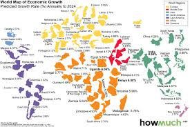 World Map Africa by World Economic Growth Through 2024 A Country By Country Map Big