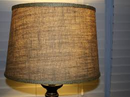 table lamps table lamp using drum burlap lamp shade for home
