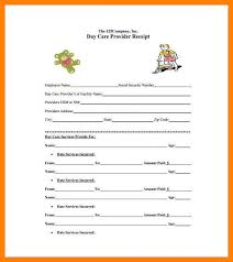 9 child care receipt template incidental report