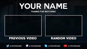 free outro template nelson designs youtube
