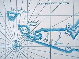 Nantucket Map Nantucket Island Letterpress Map Quail Lane Press