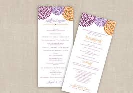 tea length wedding programs diy wedding program template instant chrysanthemum