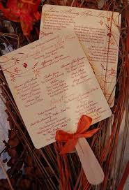 fan wedding programs diy diy paddle fan wedding program new york city
