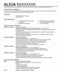 physical therapy resume examples 17 best physical therapist resume