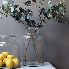 jar vases clear glass jar vase livs