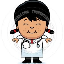 cartoon doctor smiling by cory thoman toon vectors eps 19288