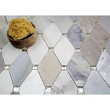 paradigm diamond moonstone marble and mirrored glass tile tile