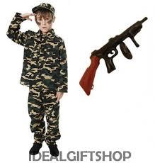 kids army boy soldier fancy dress costume boys uniform