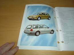 volkswagen golf mk4 u0026 bora owners manual handbook c w wallet 1 4