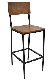 Wood Bar Chairs The Henry Steel Bar Stool With Distressed Wood Bar U0026 Restaurant