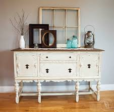 Painted Buffets And Sideboards by Sideboard Buffet Hutch Chalk Paint Makeover Sideboard Buffet