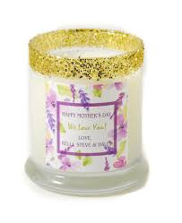 personalized candle sweet violet s day personalized candle
