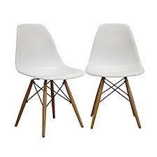 Accent Chair Set Of 2 Amazon Com White Accent Chair Set Of 2 By Wholesale Interiors