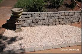 Gravel Driveway Calculator Fabulous And Building A Retaining Wall Southern Hospitality