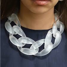 accessories chain necklace images Resin jewelry statement necklace fashion punk big acrylic chain jpg