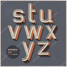 Colour Style by Alphabet Retro Colour Style Vector Illustration U2014 Stock Vector