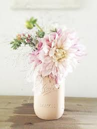 jar floral centerpieces light pink jar with floral arrangement deer pearl flowers
