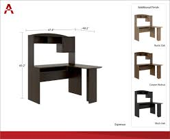 how to measure l shaped desk mainstays l shaped desk with hutch multiple colors walmart com