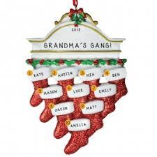 grandparents with 10 grandkids ornaments