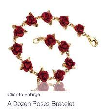 bracelet rose images The danbury mint dozen roses bracelet valentines poshmark jpg