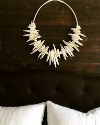 Handmade Home Decor Projects by Wall Hanging Wall Decoration Cuttlefish Bone Claybeads Hempcord