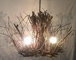 Twig Light Fixtures Twig Chandelier Etsy